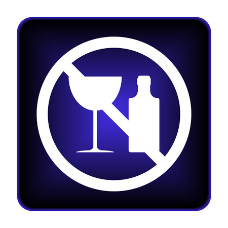 No alcohol icon. Internet button on white background. photo