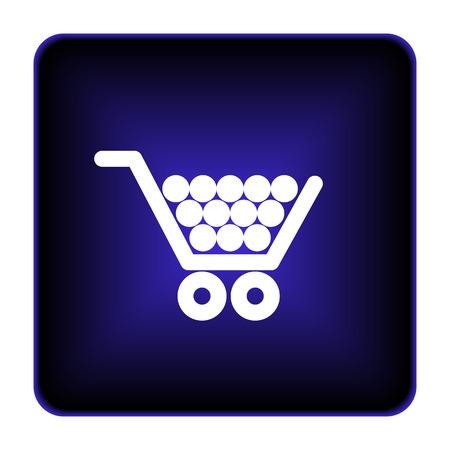 Shopping cart icon. Internet button on white background. photo