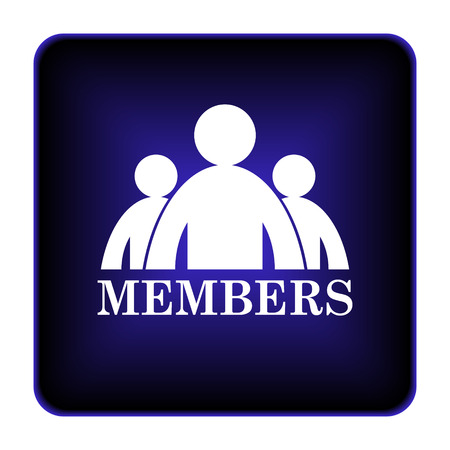 Members icon. Internet button on white background. photo