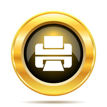 Printer icon. Internet button on white background. photo