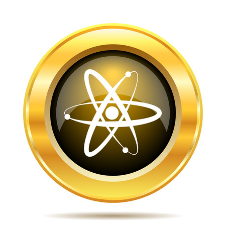 Atoms icon. Internet button on white background. photo