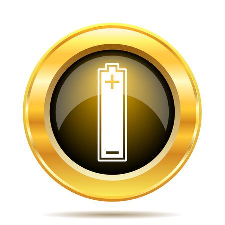 Battery icon. Internet button on white background. photo
