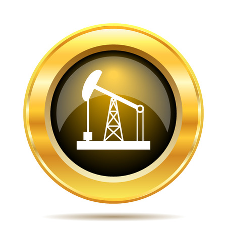 Oil pump icon. Internet button on white background. photo