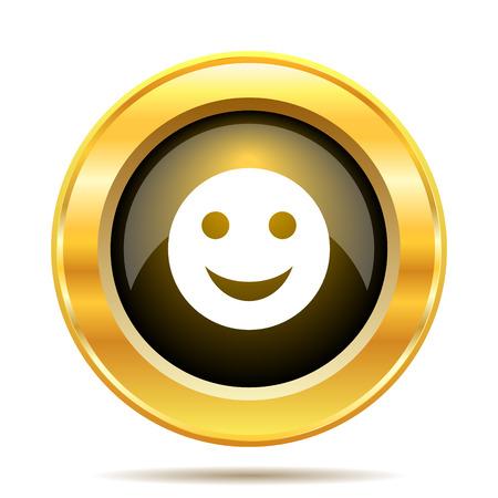 Smiley icon. Internet button on white background. photo