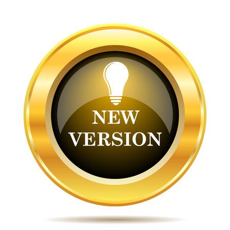 New version icon. Internet button on white background. photo