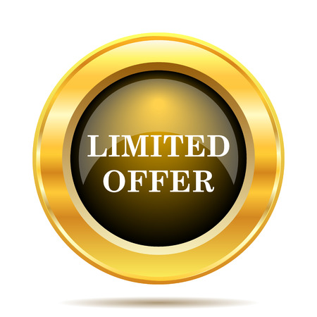 Limited offer icon. Internet button on white background. photo