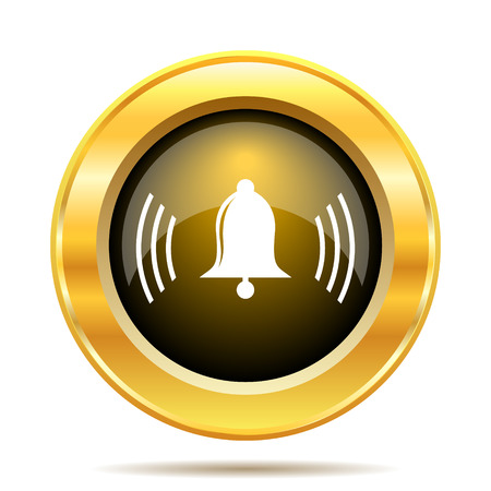 Bell icon. Internet button on white background. photo