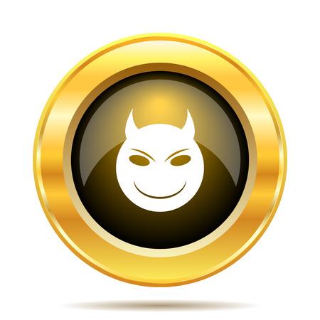 Evil icon. Internet button on white background. photo