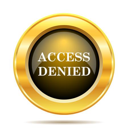 Access denied icon. Internet button on white background. photo