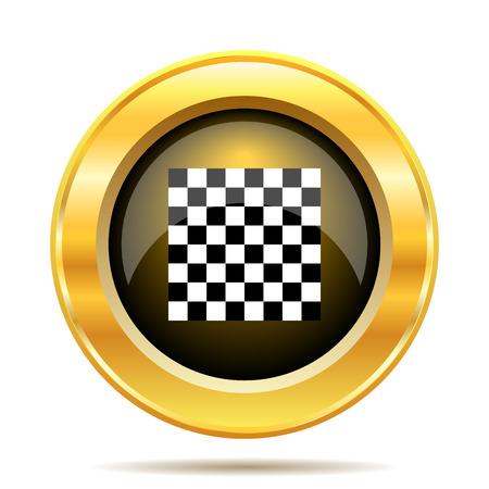 Finish flag icon. Internet button on white background. photo