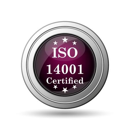 ISO14001 icon. Internet button on white background. photo
