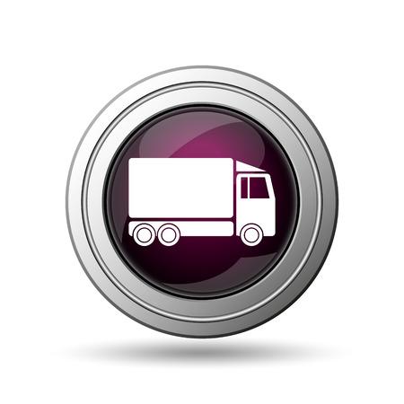 Truck icon. Internet button on white background. photo