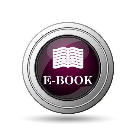 E-book icon. Internet button on white background. photo