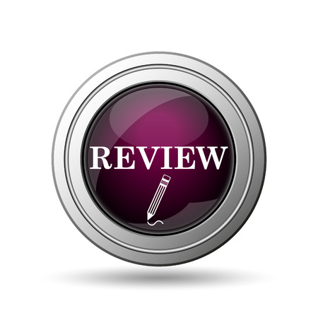 worthy: Review icon. Internet button on white background.