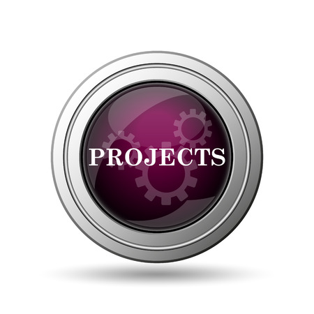 Projects icon. Internet button on white background. photo