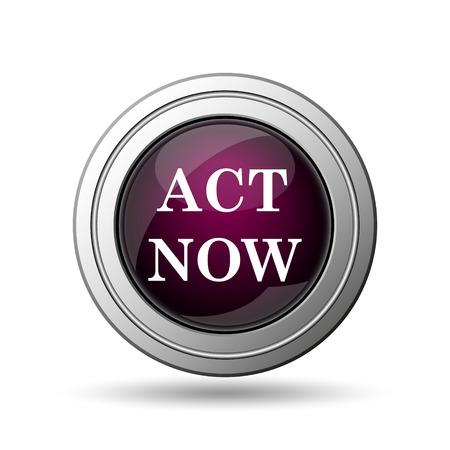 Act now icon. Internet button on white background. photo