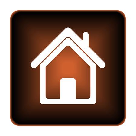 Home icon. Internet button on white background.