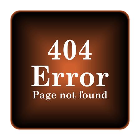 404 error icon. Internet button on white background. photo