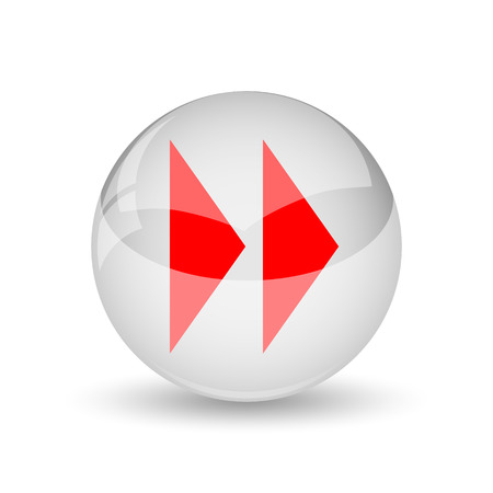 Fast forward sign icon. Internet button on white background. photo