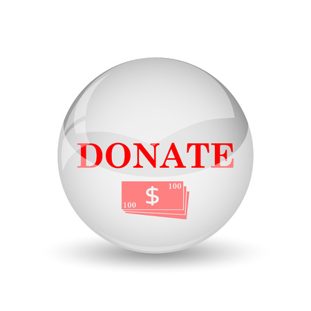 aiding: Donate icon. Internet button on white background.