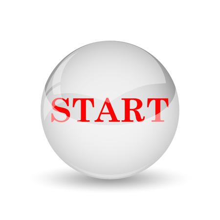 Start icon. Internet button on white background. photo