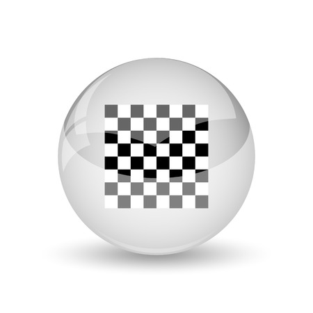 checker flag: Finish flag icon. Internet button on white background.