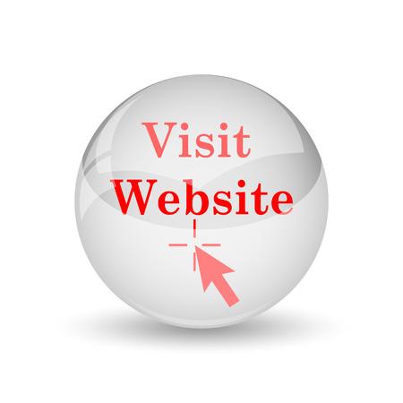 Visit website icon. Internet button on white background. photo