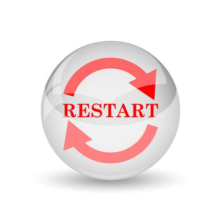 Restart icon. Internet button on white background. photo