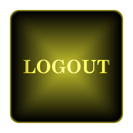 Logout icon. Internet button on white background. Stock Photo