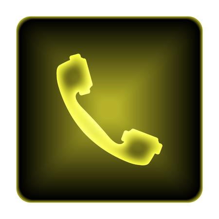 Phone icon. Internet button on white background. photo