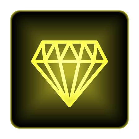karat: Diamond icon. Internet button on white background.