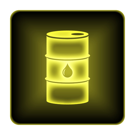 Oil barrel icon. Internet button on white background. photo
