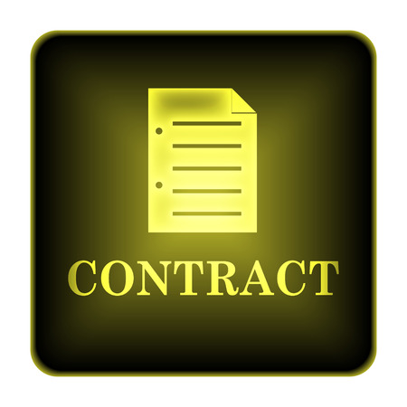 treaty: Contract icon. Internet button on white background.