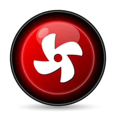 Fan icon. Internet button on white background. photo