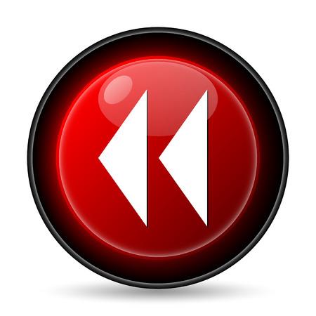 Rewind icon. Internet button on white background. photo