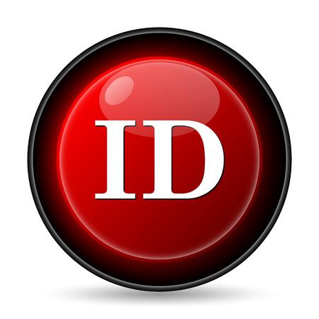 ID icon. Internet button on white background. photo