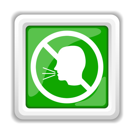 loudy: No talking icon. Internet button on white background.