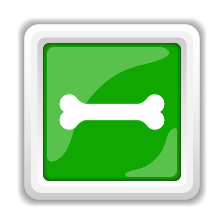 Bone icon. Internet button on white background. photo