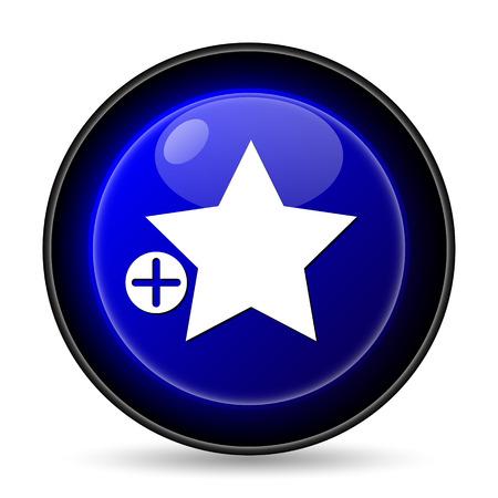 Add to favorites icon. Internet button on white background.