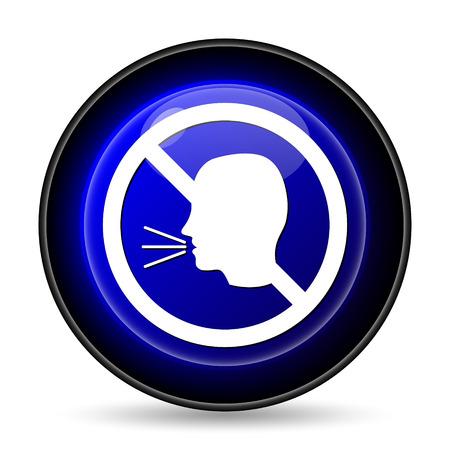 no talking: No talking icon. Internet button on white background.