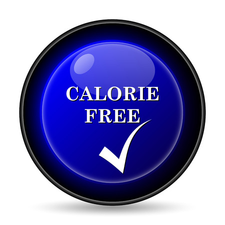 calorie: Calorie free icon. Internet button on white background.