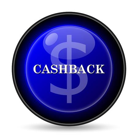 Cashback icon. Internet button on white background. photo