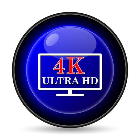 4K ultra HD icon. Internet button on white background. photo