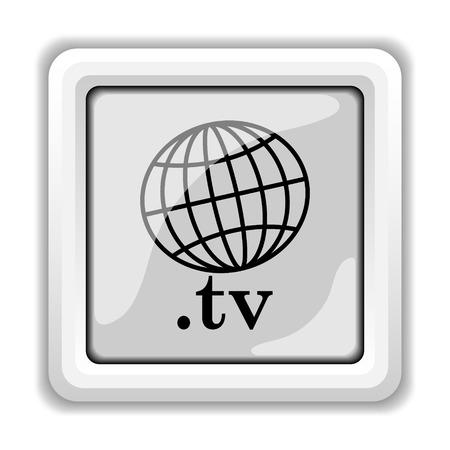 .tv icon. Internet button on white background. photo