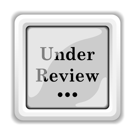 reviewed: Under review icon. Internet button on white background.