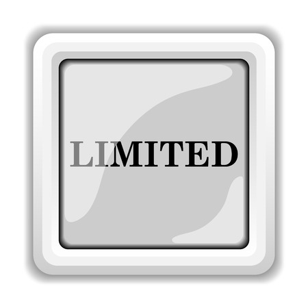 special edition: Limited icon. Internet button on white background.