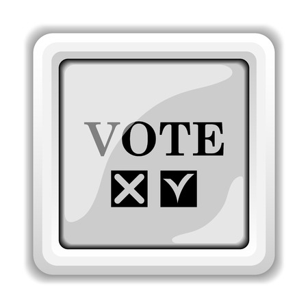Vote icon. Internet button on white background. photo