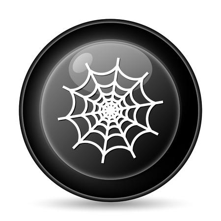 Spider web icon. Internet button on white background. photo
