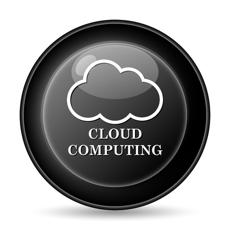 Cloud computing icon. Internet button on white background. photo