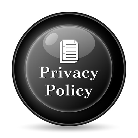 Privacy policy icon. Internet button on white background. Stock Photo